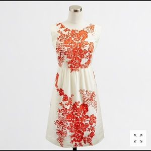 J. Crew Factory Floral Embroidered Capsleeve Dress